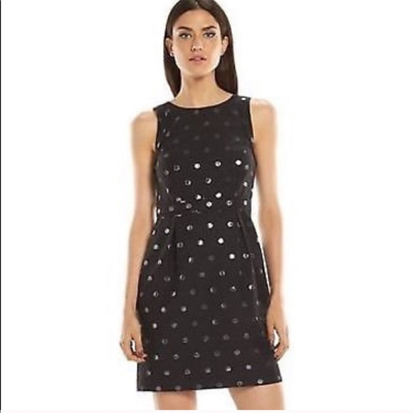 Elle Dresses & Skirts - Black dress with silver polka dots. Worn 1x
